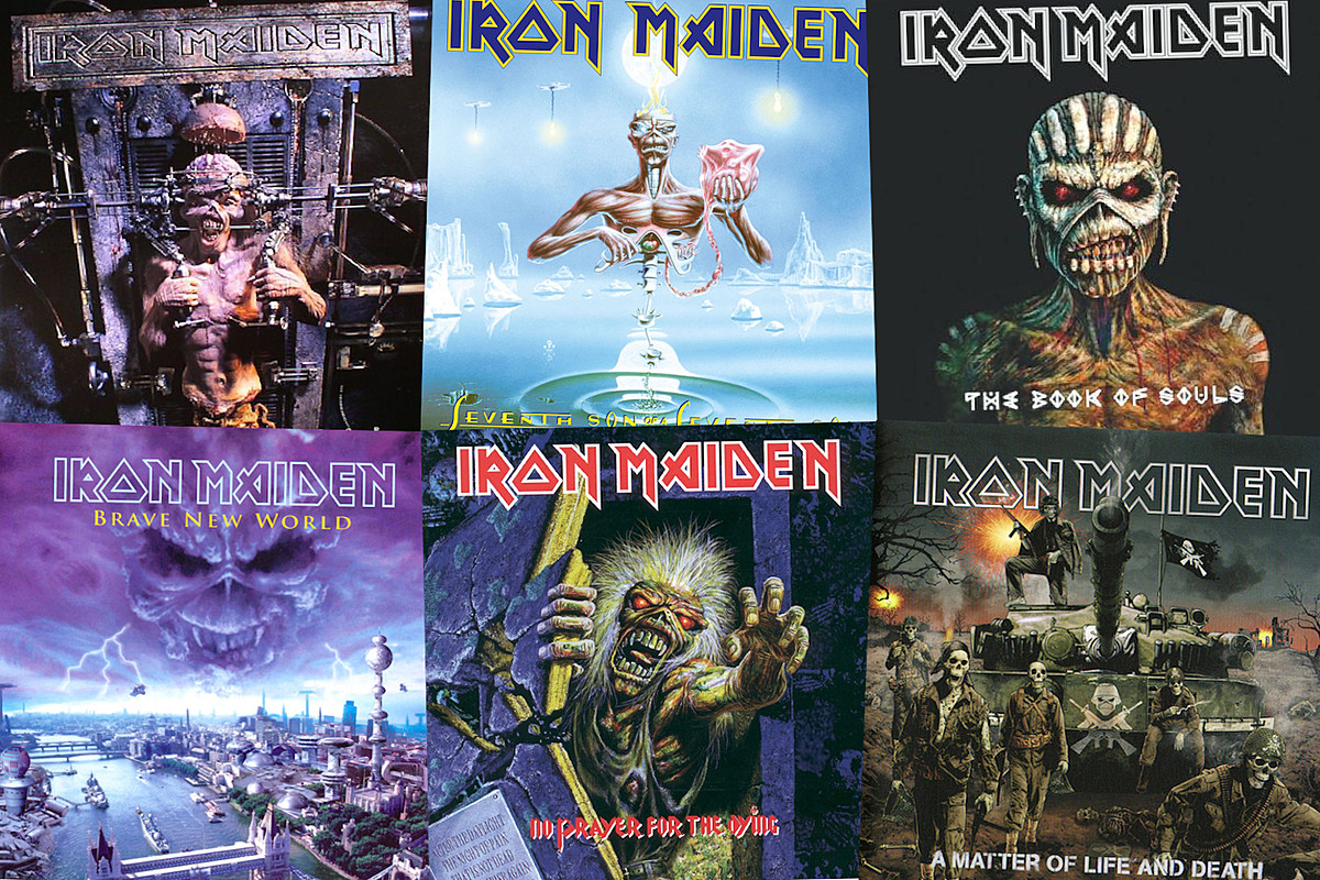 Iron Maiden covers collage
