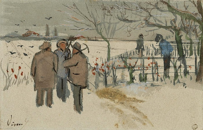 miners in the snow winter 1882 vincent van gogh