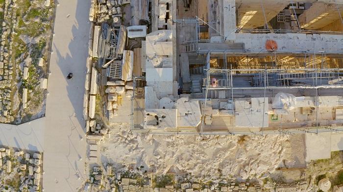 Acropolis elevator disabled walkways aerial233