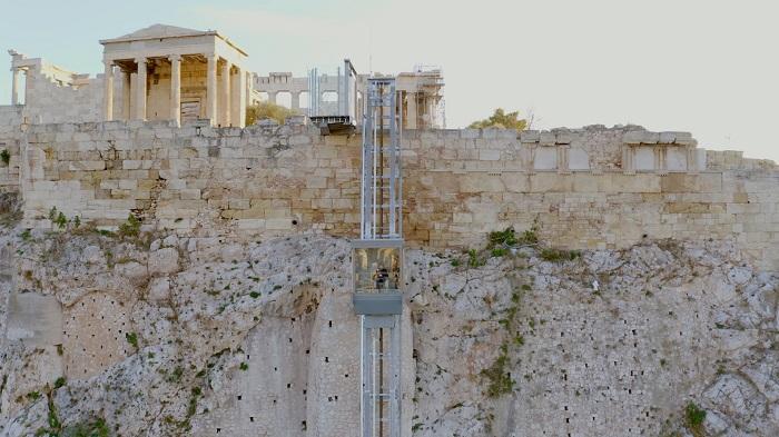 Acropolis elevator disabled walkways aerial5