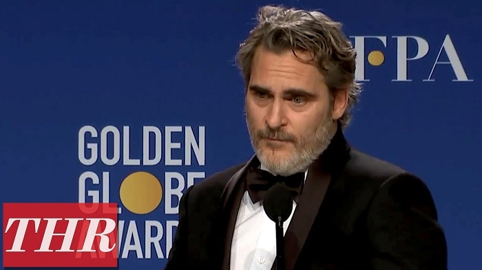 Joaquin Phoenix Full Press Room Speech