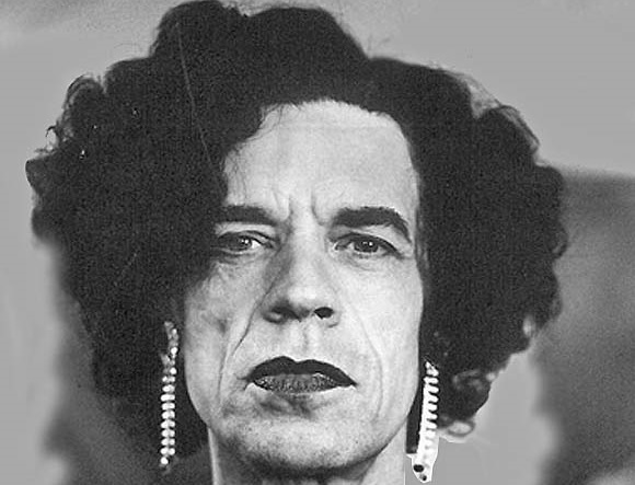 Mick Jagger in drag