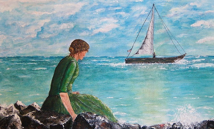 woman looking out to sea tamyra crossley
