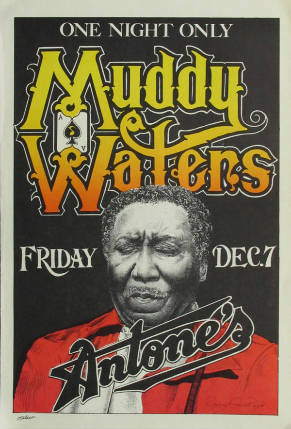 muddy waters original concert poster