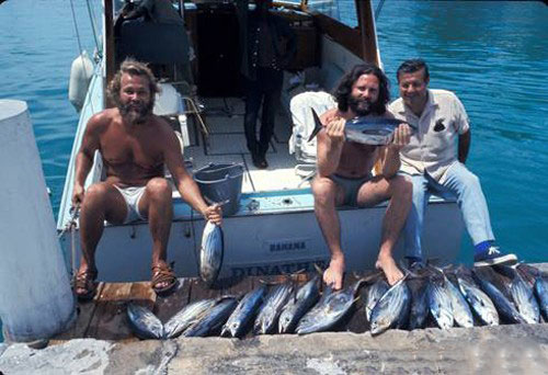 Jim Morrison The Doors Fishing Miami Bahamas 1970 Boat