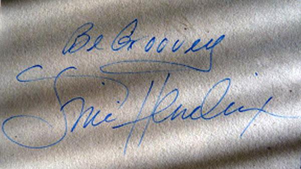 jimi hendrix autograph be groovy inscription
