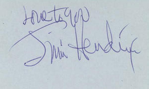 jimi hendrix autograph love to you