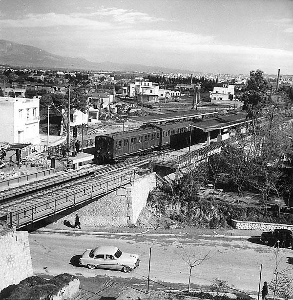 stathmos anw pathsia 1956 Παλιές φωτογραφίες από τον ηλεκτρικό της Αθήνας