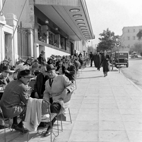 Athens Syntagma January1948 Dimitri Kessel