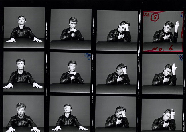 David Bowie Heroes photo contact sheet 1977