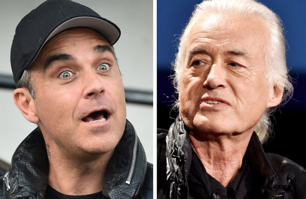 robbie williams jimmy page pool feud legal