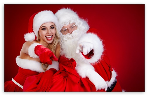 santa claus and a girl t2