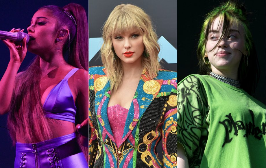 taylor swift ariana grande billie eilish 920x584